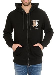 Burberry - Knight and Monogram embroidery sweatshirt in black