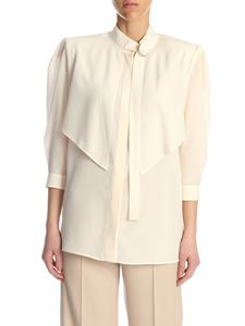 Stella McCartney - Camicia Stefanie in misto seta color crema