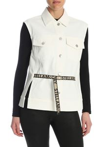 Stella McCartney - Belted waistcoat in white organic cotton