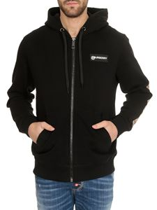 Burberry - Hoodie in black with logo and Check details