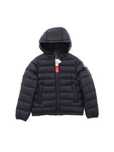 Moncler Jr - Rook black down jacket with hood