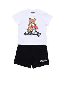 Moschino Kids - Monster Hands tracksuit in black and white