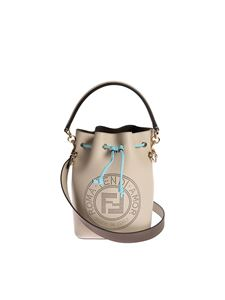 Fendi - Mon Tresor small bucket bag in light grey