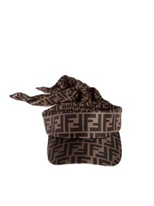 Fendi - FF visor in brown with bow