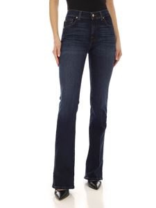 7 For All Mankind - Faded flared jeans in blue