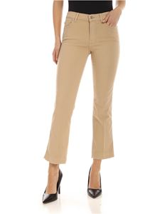 7 For All Mankind - Cropped Boot Unrolled pants in beige