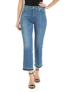 7 For All Mankind - Cropped Boot Unrolled jeans in light blue