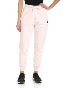 Vivienne Westwood Anglomania - Pantalone rosa con patch logo Orb