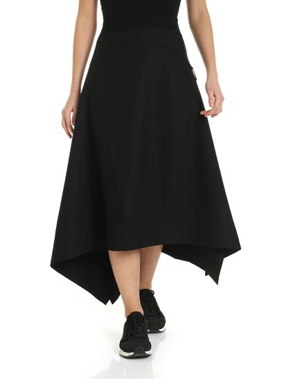 Y-3 - Craft 3-Stripes skirt in black