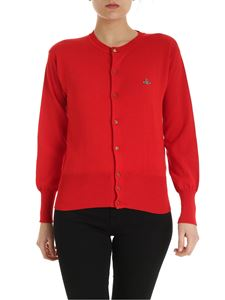 Vivienne Westwood  - Cardigan girocollo in cotone rosso