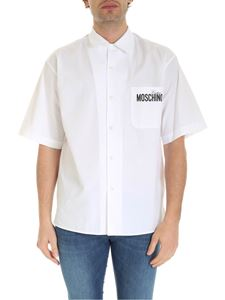 Moschino - Black logo prints shirt in white