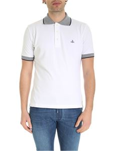 Vivienne Westwood  - Orb logo embroidery polo shirt in white