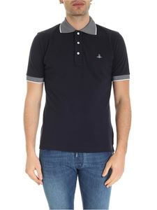 Vivienne Westwood  - Orb logo embroidery polo shirt in blue