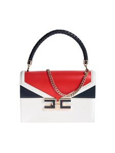 Elisabetta Franchi - Metal logo bag in Avorio and Lacca color