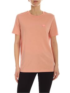 Acne Studios - Logo patch slim fit T-shirt in pink