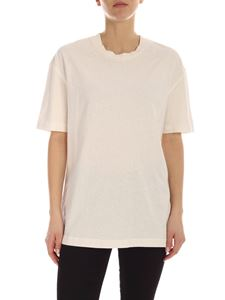 Acne Studios - Reverse-label T-shirt in ivory colore