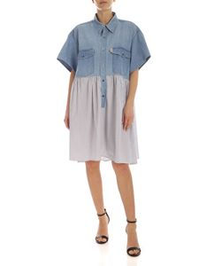 Semicouture - Candine dress in light blue denim