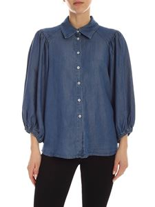Semicouture - Louise chambray shirt in blue