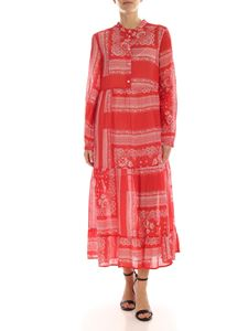 Semicouture - Calixte dress in red with bandana print