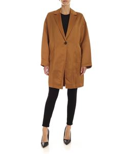 Semicouture - Adelaide single-breasted jacket in amber color