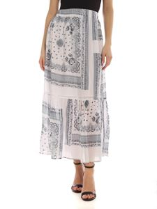 Semicouture - Maelle skirt in white with bandana print