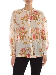 Semicouture - Dominique shirt in ivory color with floral print