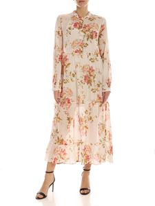 Semicouture - Sanderson floral print dress in ivory color