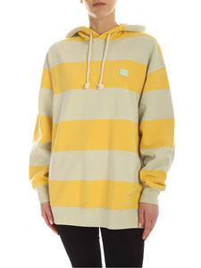 Acne Studios - Logo patch sweatshirt in yellow and mint green