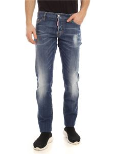 Dsquared2 - Slim jeans in blue with logo embroidery