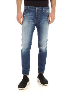 Dsquared2 - Skater jeans in blue with logo patch
