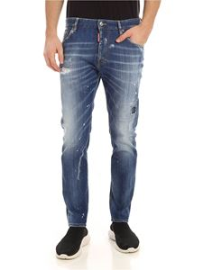 Dsquared2 - Straight Leg Boot cut jeans in blue