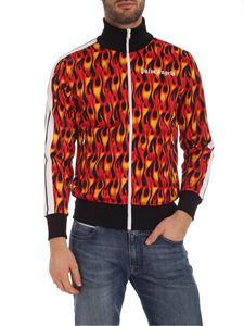 Palm Angels - Burning Track sweatshirt black and shades of red