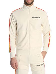 Palm Angels - Classic Rainbow Track sweatshirt in ivory color