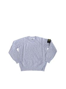 Stone Island Junior - Periwinkle pullover with logo patch