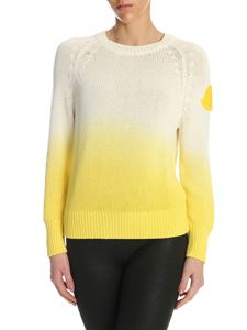 Moncler - Degradé pullover in white and yellow
