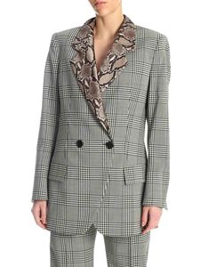 MSGM - Prince of Wales jacket with python printed lapels