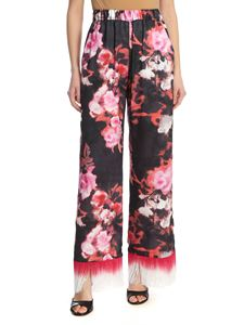 MSGM - Fringed pants in black and rose