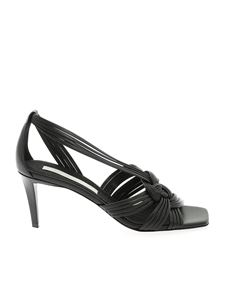 Stella McCartney - Woven eco-leather sandals in black