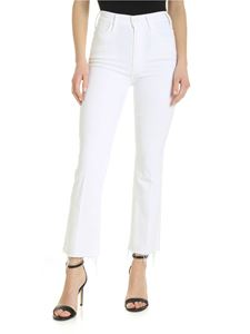 Mother - The Hustler Ankle Fray jeans in white