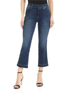 7 For All Mankind - Cropped Boot Unrolled jeans in blue