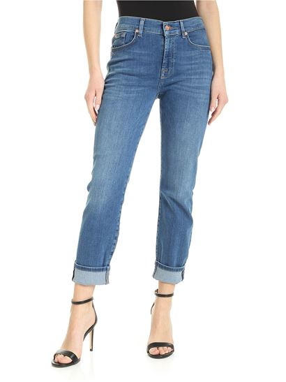7 For All Mankind - The relaxed skinny jeans in light blue
