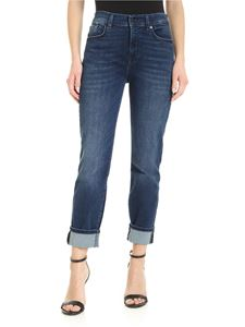 7 For All Mankind - The relaxed skinny jeans in blue