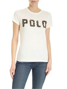 POLO Ralph Lauren - Embroidered logo cotton T-shirt in white