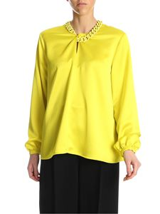 MSGM - Shirt with chain detail in yellow