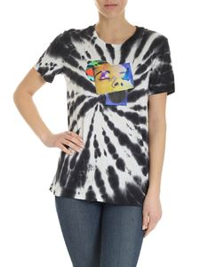 Diesel - Sily tie dye effect T-shirt in black and white