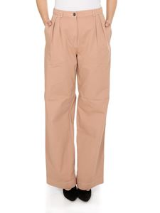 Acne Studios - Pleated twill trousers in Old Pink