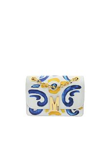 Moschino - Majolica print shoulder bag in grey