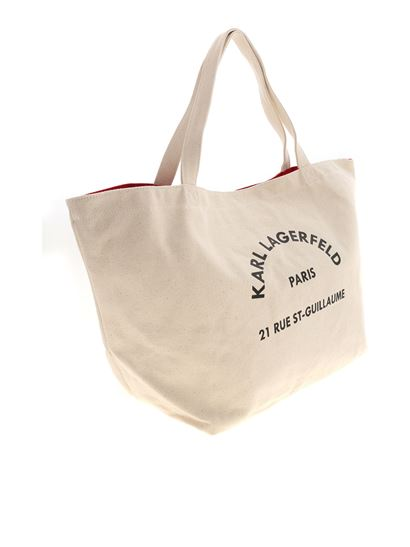 Karl Lagerfeld - K/Rue ST Guillaume tote bag in ecru color