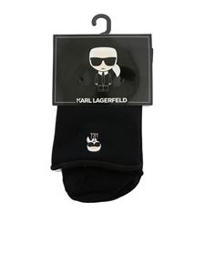 Karl Lagerfeld - K/Ikonik socks set in black and white