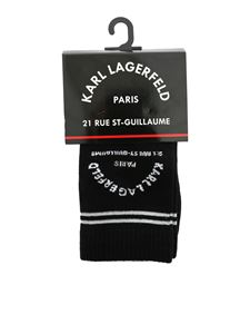 Karl Lagerfeld - Rue ST Guillame socks set in black and silver